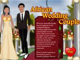 African Wedding Couple - Juegos de vestir y maquillar Kawaii