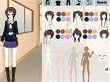 Anime school girl dress up game