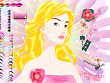 Blond girl makeup