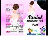 Bridal magazine girl