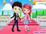 Cute flower boy and girl  - Juegos de Vestir Online