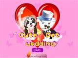 Cute pet wedding dress up