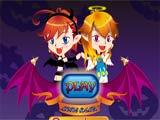 Halloween devil twins