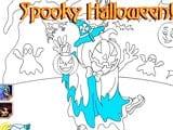 Jack o lantern halloween coloring game