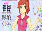 Japanese anime schoolgirl