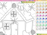 Kid s coloring sweet house