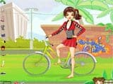 Mae the sporty biker