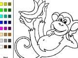 Monkeys coloring book
