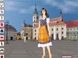 Romanian girl dress up