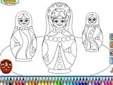 Russian dolls coloring
