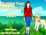 Shetland pony girl dress up