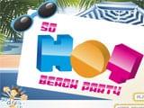 So hot beach party