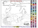 Coloring mermaid